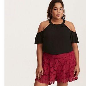 Torrid Floral Lace Shorts Size 2X